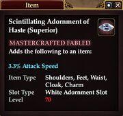 Scintillating Adornment of Haste (Superior)