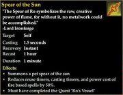 Spear of the Sun