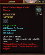 Thief's Blood-Dyed Chain Gloves