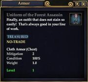 Uniform of the Forest Assassin