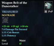Weapon Belt of the Dunestalker