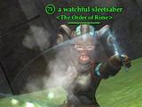 A watchful sleetsaber