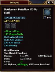 Battlement Battalion 623 Bo Staff