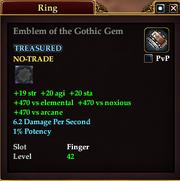 Emblem of the Gothic Gem