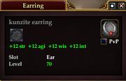 Kunzite earring