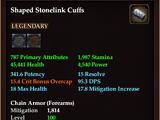 Shaped Stonelink Cuffs
