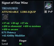 Signet of Fine Wine