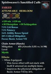 Spiritweaver's Sanctified Cuffs