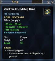 Zaz'I'zaz Friendship Band