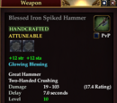 Blessed Iron Spiked Hammer