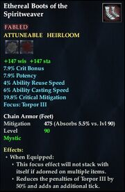 Ethereal Boots of the Spiritweaver