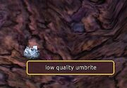 Low quality umbrite