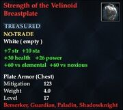 Strength of the Velinoid Breastplate