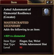 Astral Adornment of Elemental Resilience (Greater)