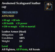 Awakened Scaleguard leather cap