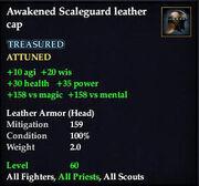 Awakened Scaleguard leather cap