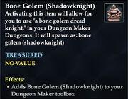 Bone Golem (Shadowknight)