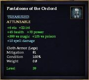 Pantaloons of the Orclord
