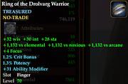 Ring of the drolvarg warrior