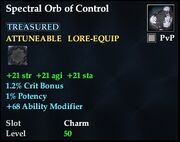Spectral Orb of Control