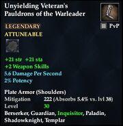 Unyielding Veteran's Pauldrons of the Warleader