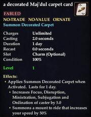 A decorated Maj'Dul carpet card