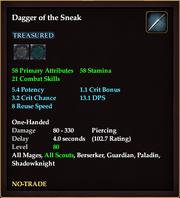 Dagger of the Sneak