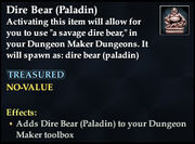 Dire Bear (Paladin)