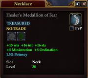 Healer's Medallion of Fear