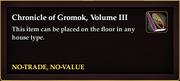 Chronicle of Gromok, Volume III book