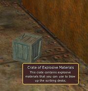 Crate of Explosive Materials