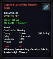 Cursed Blade of the Shadow Brute