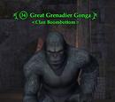 Great Grenadier Gonga
