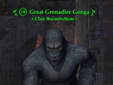Great Grenadier Gonga