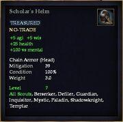 Scholar's Helm