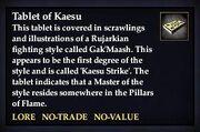 Tablet of Kaesu