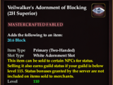 Veilwalker's Adornment of Blocking (2H) (Collection Reward)