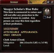 Vesspyr Scholar's Blue Robe