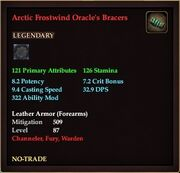 Arctic Frostwind Oracle's Bracers