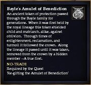 Bayle's Amulet of Benediction (Quest Item)