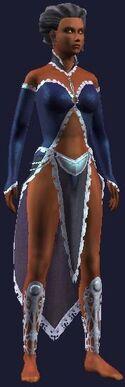 Blue fancy dress (Visible, Female)