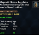 Magmatic Bronze Legplates