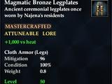 Magmatic Bronze Legplates