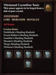 Thickened Crystalline Tunic