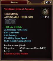 Viridian Helm of Autumn