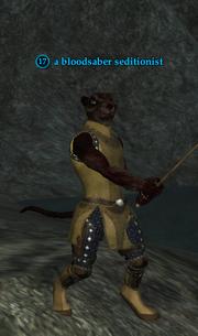 A bloodsaber seditionist (ratonga)