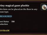 A tiny magical gazer plushie