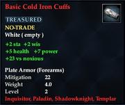 Basic Cold Iron Cuffs