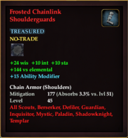Frosted Chainlink Shoulderguards