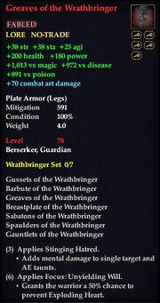 Greaves of the Wrathbringer